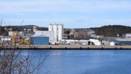 NYTT ANLEGG: Slik ser Miljøkalks nye anlegg i Arendal Havn Eydehavn ut. Det foreligger muligheter for utvidelser ved økt produksjon. Foto: Esben Holm Eskelund