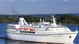 MS OCEAN MAJESTY: Onsdag morgen seiler dette cruiseskipet inn Galtesund. Foto: Hansa Touristik