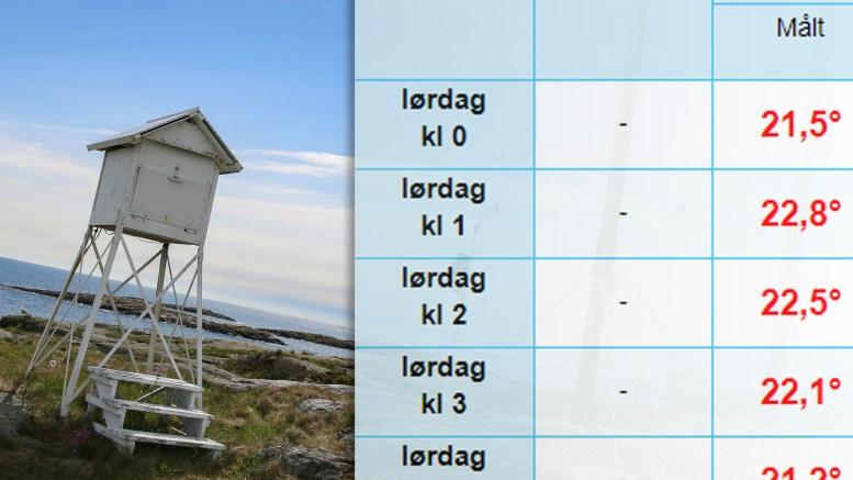 VARM NATT: Temperaturen gjennom natten sikret tropenatt på Torungen fyr. Foto: Esben Holm Eskelund/Montasje