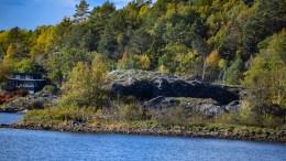 GRUVEHOLMEN: Skjuler den største gruven på Tromøy. Foto: Esben Holm Eskelund
