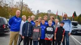 FOTBALLTALENTER: Denne flokken Trauma-gutter, samt en Saltrød-gutt dro til Hamar på talentcup i helgen. Foto: Esben Holm Eskelund