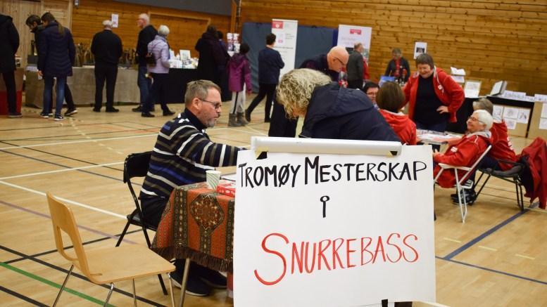 TROMØYMESSA: I fjor ble det konkurrert i snurrebass på messa i Tromøyhallen. Foto: Esben Holm Eskelund