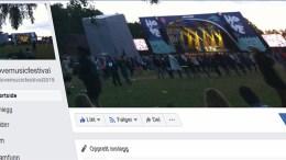 IKKE EKTE: En falsk side for Hove Music Festival dukket opp på Facebook. Den ekte er utstyrt med festivalens nye logo, ikke gamle Hovefestivalen-bilder. Foto: Skjermbilde Facebook