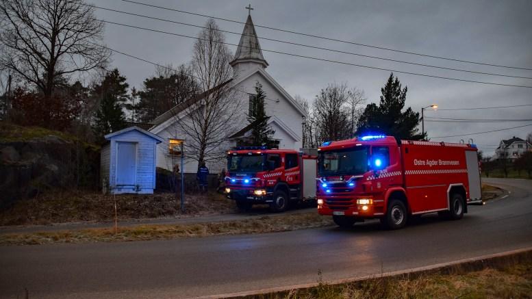 BRANN I BARNEHAGEN: Nødetatene rykket ut til brannmelding fra Kongshavn barnehage. Foto: Esben Holm Eskelund