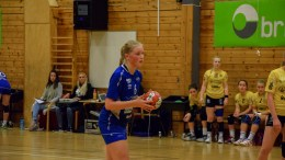 MÅLMASKIN: Karin Steen fra Trauma J16 satte et solid antall scoringer mot Grane-jentene i Granehallen forleden. Arkivfoto: Esben Holm Eskelund