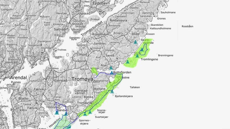 DIGITALE MENINGER: I et digitalt kart kan du legge inn dine innspill til besøksstrategi for Raet Nasjonalpark. Kart: Fylkesmannen.no
