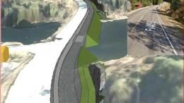 GANG- OG SYKKELVEI: Mandag settes arbeidet med å bygge gang- og sykkelvei mellom Holtet og Skudereis i gang. Illustrasjon: Statens vegvesen
