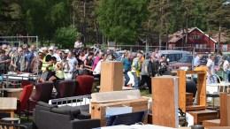 LOPPEMARKED PÅ HOVE: Det nærmer seg loppemarked i regi av Lions Tromøy, som allerede nå kan begynne å ta imot salgsobjekter. Arkivfoto