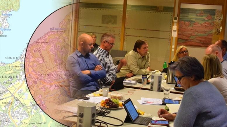 FORTETTING: Til venstre Krfs Ole Glenn Tvermyr (Krf), som fikk gjennomslag for å se på alternativer for enklere planprosesser for å få til fortetting rundt kommunens skoler. Foto: Esben Holm Eskelund/Montasje