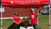 TROMØY ARBEIDERLAG: Tanja Javnes Sandåker og Tor Jacobsen er Arbeiderpartiets listekandidater fra Tromøy. Foto: Arendal Ap