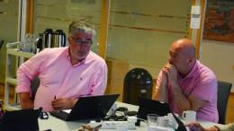 KOMMUNALT TILSKUDD: Høyres Geir Fredrik Sissener og Frps Anders Kylland (t.h.) mener rådmannen bør planlegge for å gi tilskudd til foreningseide bygg. Foto: Esben Holm Eskelund