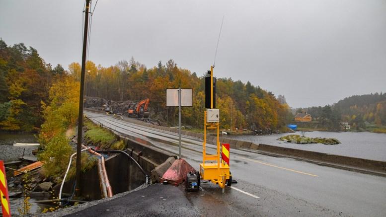 STENGER VEIEN: Statens vegvesen varsler veistenging mellom Holtet og Skudereis. Foto: Esben Holm Eskelund