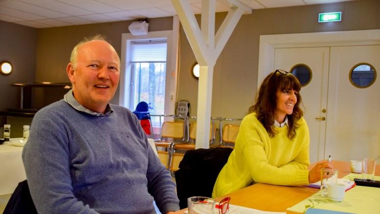 FORNØYD: Daglig leder Terje Stalleland og tidligere styreleder Ingunn Kilen Thomassen i Hove drifts- og utviklingsselskap AS. Arkivfoto