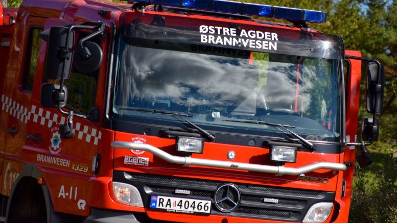 BRANNALARM: Østre Agder brannvesen. Illustrasjonsfoto