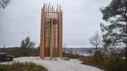 VARDÅSEN: På Vardåsen er det kommet opp et nytt utsiktstårn med tilrettelagt areal rundt. Foto: Esben Holm Eskelund