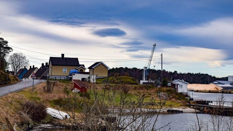 SKALLE: Stedet helt øst på Åmdalsøyra bærer dette navnet. Foto: Esben Holm Eskelund