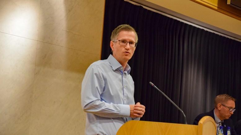 PRESSEKONFERANSE: Ordfører Robert C. Nordli kaller inn til pressekonferanse om koronasituasjonen. Arkivfoto
