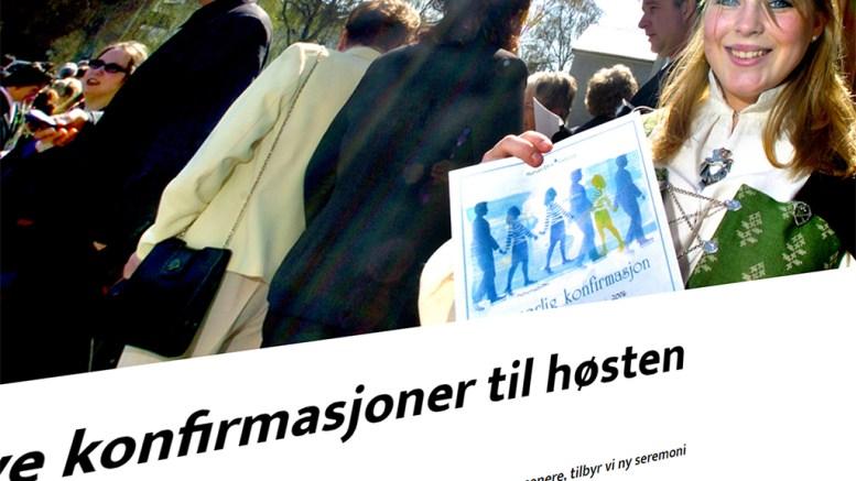 FLYTTES TIL HØSTEN: Human-Etisk forbund flytter konfirmasjonene i Arendal til høsten. Illustrasjonsfoto
