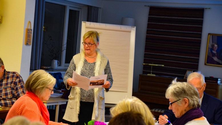 TROMØY HELSELAG: Synnøve Bjerkholt i Tromøy helselag forteller om dugnadsinnsats på nasjonalt plan. Arkivfoto