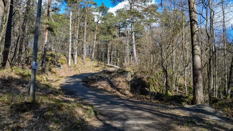 KORKETREKKEREN: Den store korketrekkeren i lysløypa vest på Tromøy. Foto: Esben Holm Eskelund