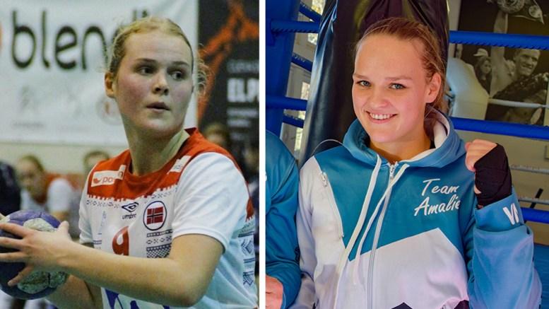 FYLKESSTIPENDER: Fanny Skindlo (t.v.) og Amalie Anker Johansson får stipender fra Agder fylkeskommune.