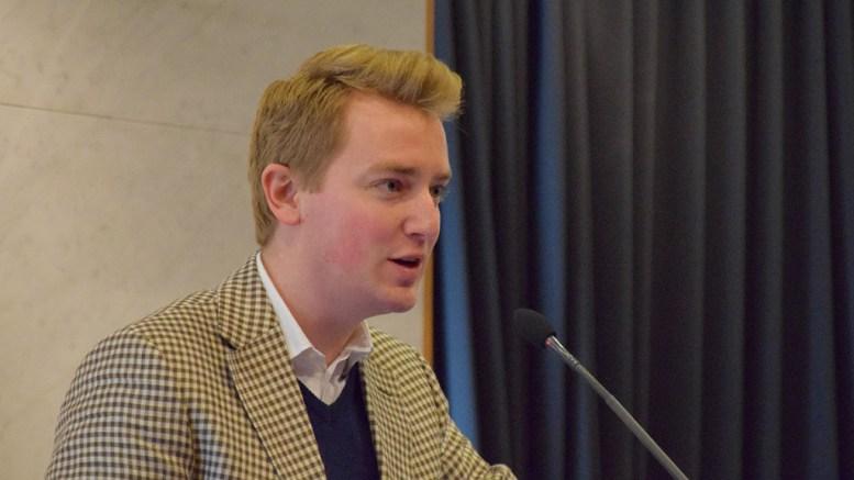 SKJENKENEI: Haagen Poppe (H) argumenterte for å si ja til skjenking på Kulturkammeret, men bystyreflertallet sto ved prinsippet om at ungdommenes kulturhus i sentrum av Arendal skal være rusfritt. Arkivfoto