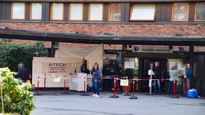 SYKEHUSSMITTE: Det er påvist covid-19 hos en ansatt på Sørlandet sykehus Arendal. Arkivfoto