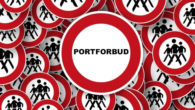 PORTFORBUD: Før man kommer så langt er det mange andre virkemidler, som bør brukes for å stramme inn. For eksempel å stenge grensene ordentlig. Illustrasjon