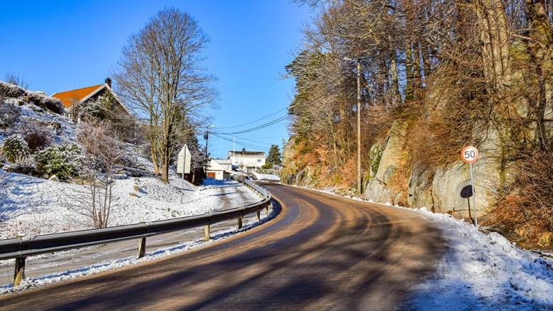 FARTSDEMPERE: Fylkespolitikerne har bevilget penger til bygging av fartsdempere fra Skaresvingen til Åmdalsøyra. Forhåpentligvis er trafikksikkerhetstiltaket på plass i løpet av året. Foto: Esben Holm Eskelund