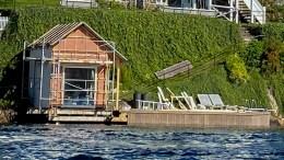 STRANDSONEBYGGING: Arendal ligger på landssnittet i tillatelser til bygging i strandsonen, men statistikken viser ikke alt bygging i strandsonen innebærer. Illustrasjonsfoto