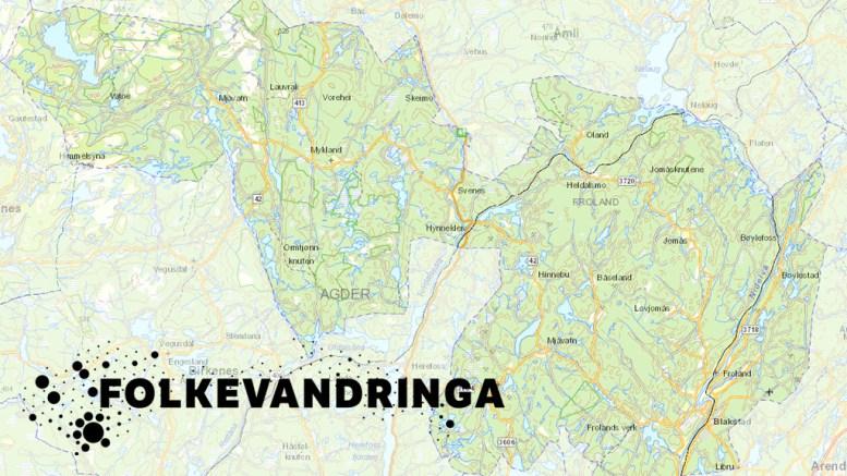 FOLKEVANDRINGA: De siste 20 årene har flere arendalitter flyttet til Froland enn motsatt vei. Frolandskart.no / Illustrasjon