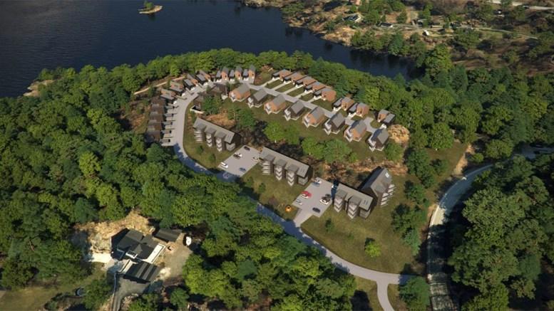 PUSNESHEIA: Slik kan en utbygging av et nytt boligområde på Pusnesheia bli seende ut. Illustrasjon: Rambøll