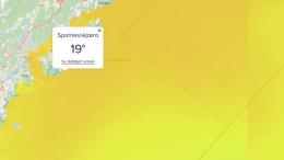 SJØTEMPERATUR: Ny tjeneste gir deg badetemperaturen time for time. Foto: Skjermbilde havvarsel.no