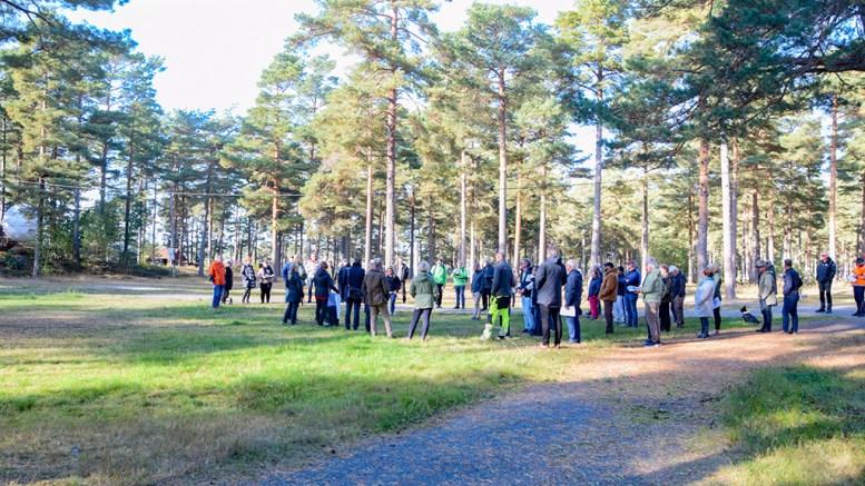 HOVE-REGULERINGEN: Torsdag var bystyret invitert på befaring på campingområdet på Hoveodden, etter at de folkevalgte er blitt presentert for kommunens planforslag for videre campingdrift. Foto: Esben Holm Eskelund