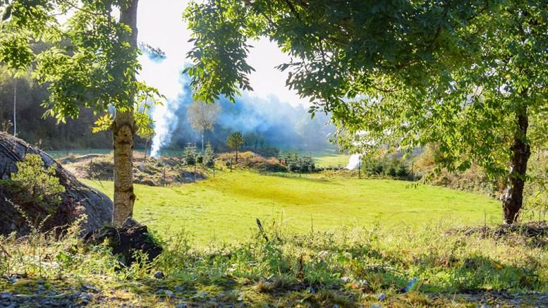 STOREFET: Her har det alltid vært bra tilgang på markens grøde. Området er i aktiv gårdsdrift også i dag. Foto: Esben Holm Eskelund