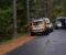 RUSKJØRING PÅ HOVEODDEN: En mann ble pågrepet etter mistanke om ruskjøring på Hoveodden torsdag morgen. Foto: Esben Holm Eskelund