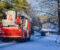 PIPEBRANN: Brannvesenet var på plass på Kaffijordet tirsdag ettermiddag. Foto: Esben Holm Eskelund