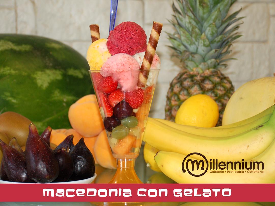 Macedonia con gelato, Gelateria Millennium a Roma Prati
