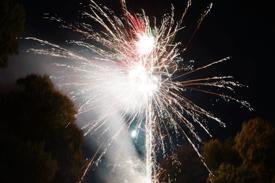 Vuurwerk in de kasteeltuin van Geldrop