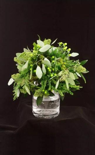 Gėlių puokštė Žalia, žalia