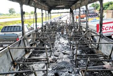 Dois  ônibus são queimados em protesto contra PM
