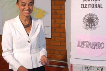 Pelo twitter, Marina Silva parabeniza a nova presidente do Brasil