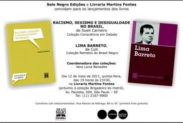 Lançamento dos livros de Sueli Carneiro e Cuti dia 12 /05