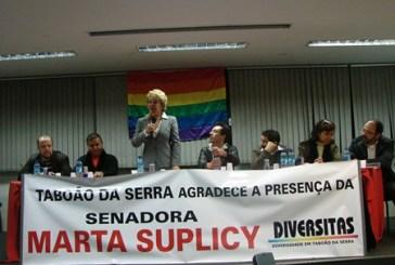 Marta Suplicy visita Taboão e aborda o Orgulho LGBT