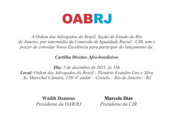 OAB-RJ - Cartilha sobre Direitos Afro-brasileiros será lançada dia 5