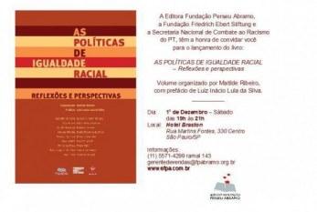 São Paulo terá lançamento de obra sobre igualdade racial dia 1º