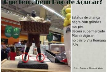 Estátua de criança negra com grilhões nos pés no Pão de Açúcar mobiliza AMNB