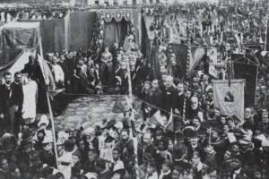 Missa campal realizada em 1888 para festejar a Abolição, que contou com a presença da própria princesa Isabel