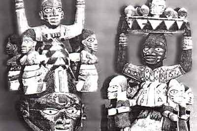 A cabeça de um cidadão de Oyo