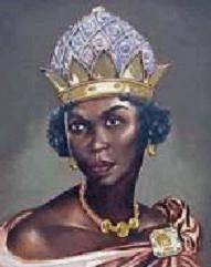 Nzinga Mbandi Rainha de Angola (cerca de 1580-1663) Também conhecida como Jinga, Singa, e Zhinga, ela liderou uma revolta fracassada contra o governo colonial Português depois de uma briga sobre o controle do comércio de escravos. Dois de seus líderes de guerra foram supostamente suas irmãs, seu conselho de assessores continha muitas mulheres, e as mulheres foram chamados para servir em seu exército. Nzinga formaram uma confederação de outras tribos e aliou-se com os holandeses, continuando a lutar contra o Português há mais de trinta anos.